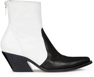 Givenchy Paneled Leather Cowboy Boots