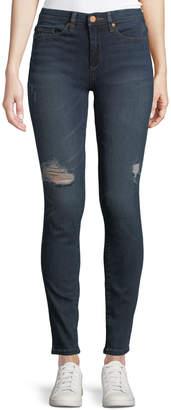 Blank NYC Distressed Skinny Jeans, Dark Wash
