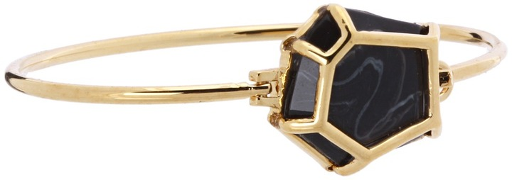 Marc by Marc Jacobs Gem Hinge Cuff Bracelet (Onyx) - Jewelry
