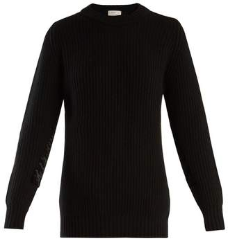 Hillier Bartley - Long Sleeved Ribbed Knit Cashmere Sweater - Womens - Black