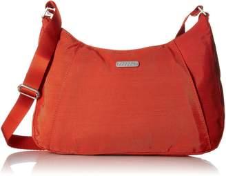 Baggallini Slim Crossbody Hobo Bag Organizational Pockets with Lightweight Nylon