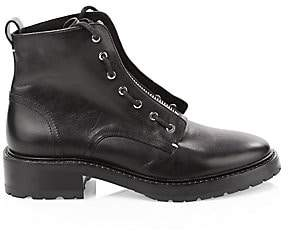 Rag & Bone Women's Cannon Zip-Up Leather Combat Boots