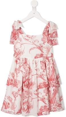 Oscar de la Renta Kids foliage print dress