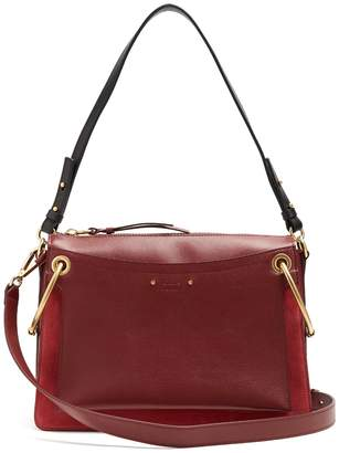 Chloé Roy medium suede and leather shoulder bag