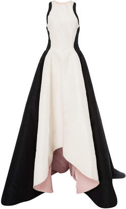 High Low Color Block Gown