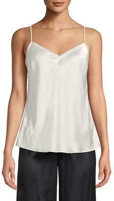 Neiman Marcus V-Neck Silk Camisole