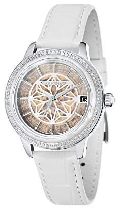 Thomas Laboratories Earnshaw Women's 'Lady KEW' Automatic Stainless Steel and Leather Dress Watch