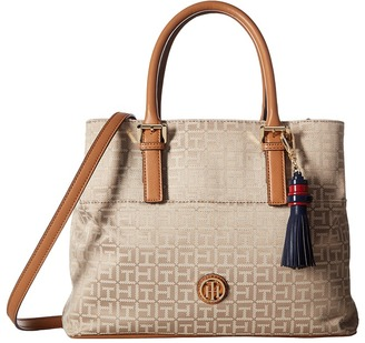 Tommy Hilfiger Summer of Love Convertible Shopper Jacquard $118 thestylecure.com