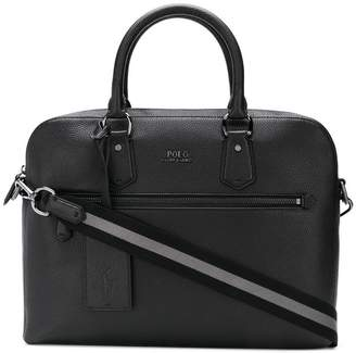 Polo Ralph Lauren pebbled laptop bag