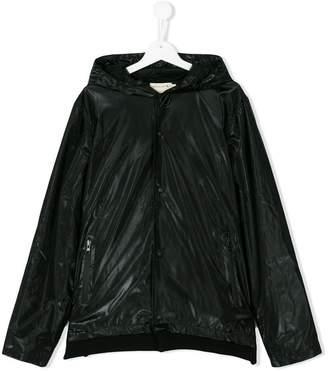 Andorine zipped pockets hooded jacket