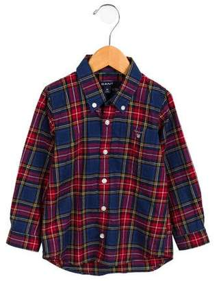 Gant Kids Boys' Plaid Button-Up Shirt