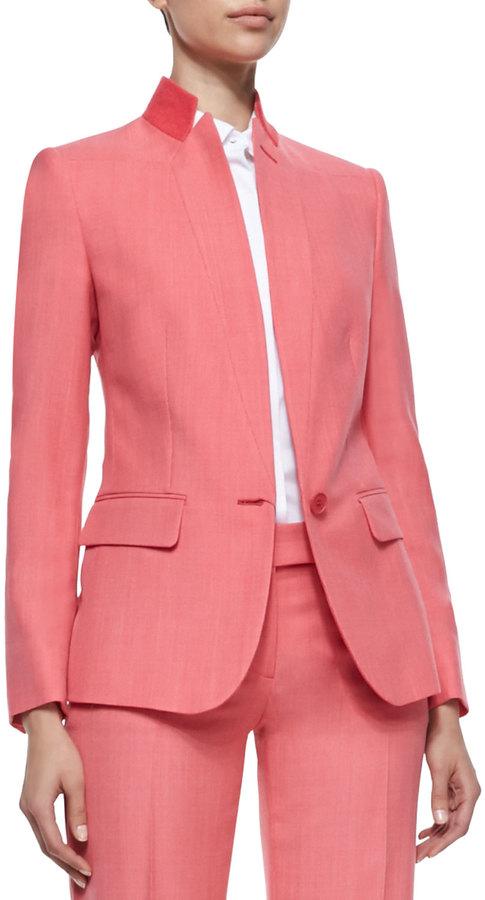 Stella McCartney Textured Stand-Collar Blazer