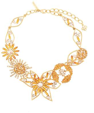 Oscar de la Renta jeweled flower necklace