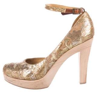 Lanvin Metallic Platform Pumps