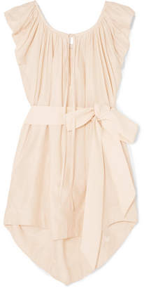 Kalita - Andromeda Silk And Cotton-blend Mini Dress - Pastel pink