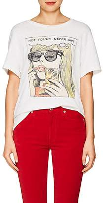 RE/DONE Women's The Girlfriend Graphic Cotton T-Shirt - White