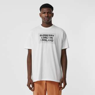 Burberry Logo Print Cotton Oversized T-shirt