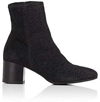 Barneys New York WOMEN'S LUREX KNIT ANKLE BOOTS