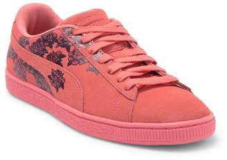 Puma Suede Basket Floral Sneaker