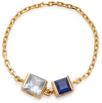 Yi Collection 18K Gold Sapphire Chain Ring