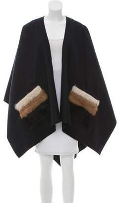 Donni Charm Fur-Trimmed Wool Cape w/ Tags