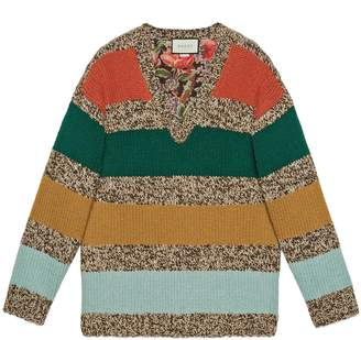 Gucci Reversible striped wool sweater