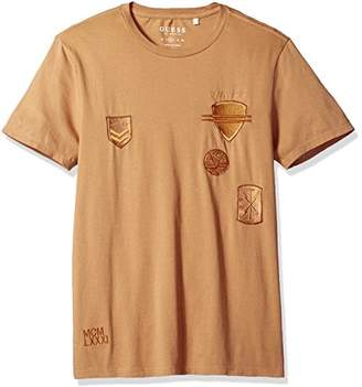 GUESS Men's Military Patch Crew T-Shirt