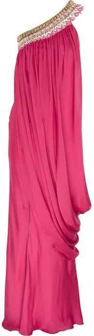 Temperley London Phoebe beaded silk gown