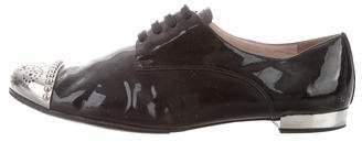 Miu Miu Cap-Toe Patent Leather Oxfords