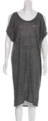 L'Agence Scoop Neck Linen Dress