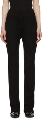 Marques Almeida Black Knitted Trousers