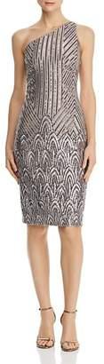 Aqua Sequined One-Shoulder Dress - 100% Exclusive