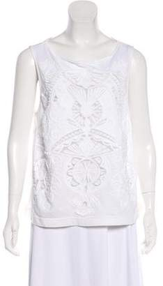 Dries Van Noten Sleeveless Embroidered Top