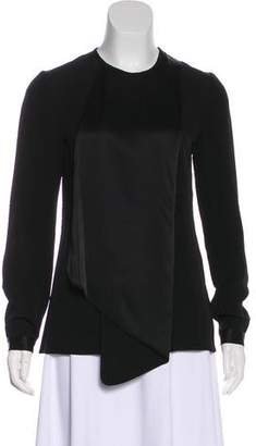 Victoria Beckham Victoria Long Sleeve Pleated Blouse