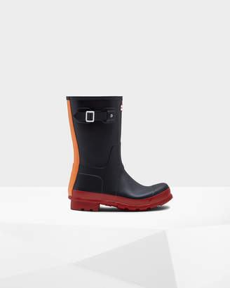 Hunter Men's Original Color Block Short Rain Boots