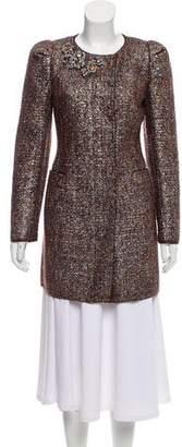 Prada Embellished Wool Coat