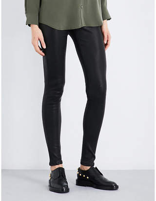 AG Jeans Skinny mid-rise leather leggings