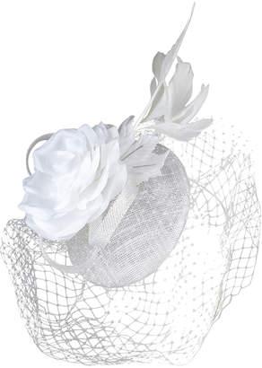 Morgan & Taylor 'JAIMEE' Sinamay Beret with Loop Veiling & Flower