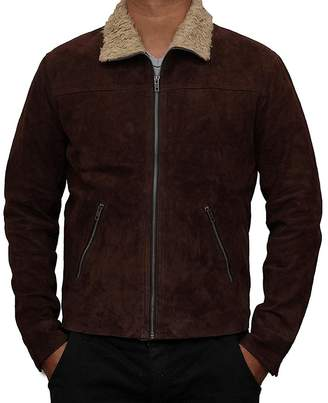 f9aec831f44 The Custom Jacket Rick Suede Grimes Jacket - The Walking Dead Real Geniune  Leather Coat (