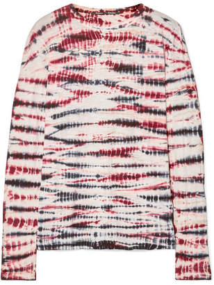 Proenza Schouler Tie-dyed Cotton-jersey Top - Burgundy