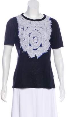 Tory Burch Linen Blend Short Sleeve