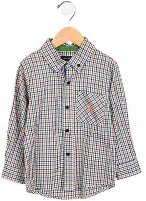 Andy & Evan Boys' Gingham Button-Up Shirt w/ Tags