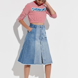 k / lab k/lab Button Front Jean Skirt