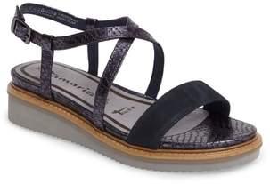 Tamaris 'Eda' Platform Wedge Sandal