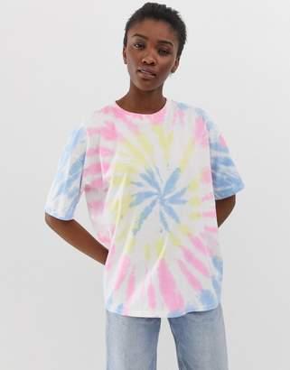 5364ce66e34b Asos Design DESIGN oversized t-shirt in pastel tie dye