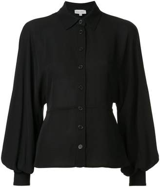 CK Calvin Klein georgette balloon sleeve shirt