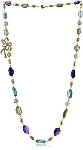 "Carolee LUX ""Rock On"" Gold-Tone Multi Color Single Strand Necklace"