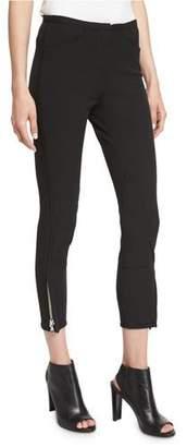 3.1 Phillip Lim Jodhpur Ankle-Zip Leggings, Black