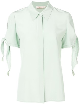 Tory Burch knotted sleeve blouse