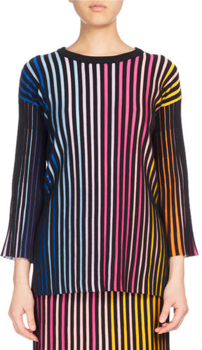 Kenzo Kenzo Crewneck Paneled Sweater, Multicolor